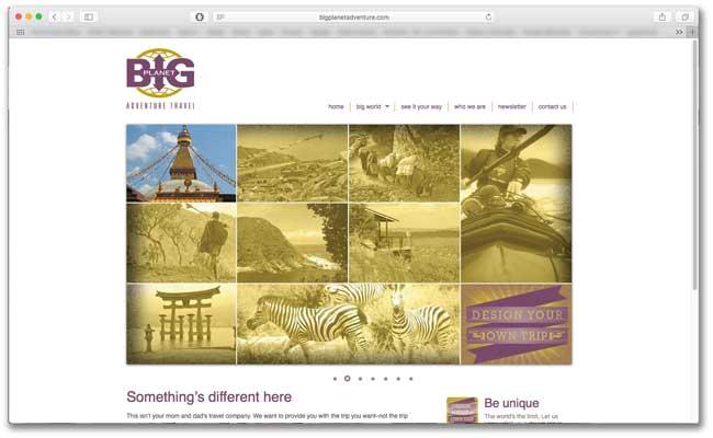 Big Planet Adventures website