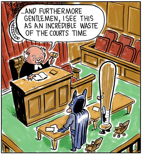 Batman and Bat man go to court