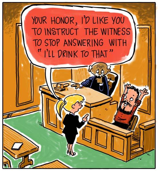 Cartoon of courtroom