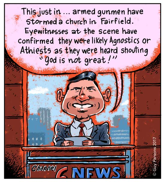 News report cartoon