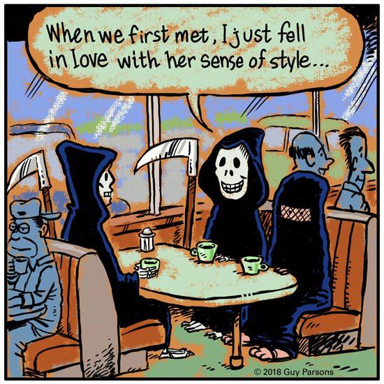 Reaper  and burka cartoon