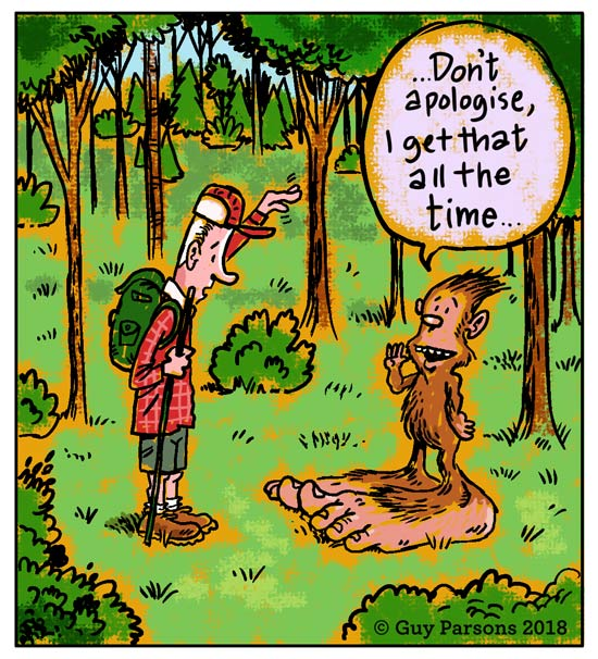 Bigfoot cartoon
