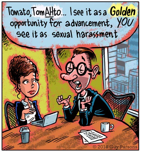 Sexual harassment cartoon