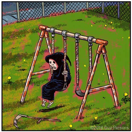 Death on a swing set