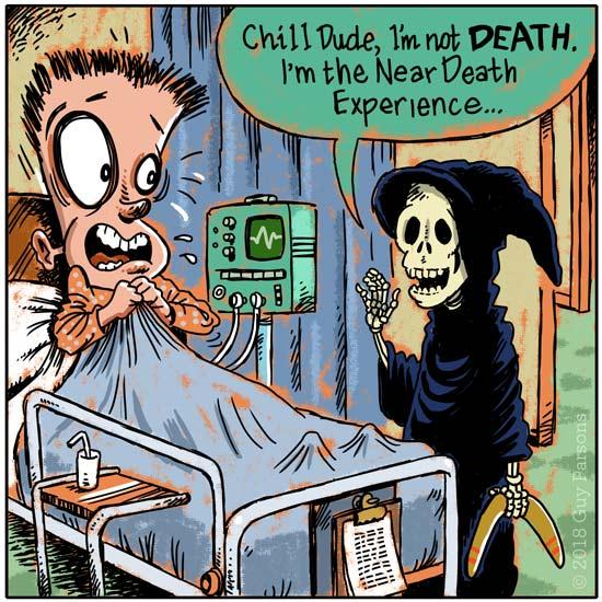 Boomerang and death cartoon