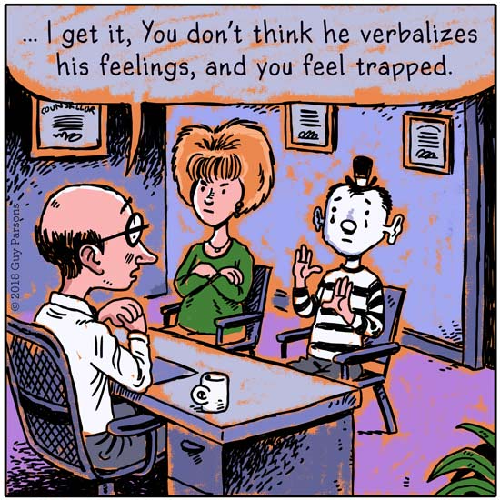Mime Marriage counseling cartoon